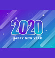happy new year 2020 with colourful background vector image vector image