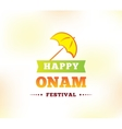 Happy onam festival vector image vector image