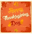 Happy Thanksgiving day vintage poster vector image