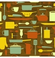 Kitchen items seamless pattern vector image