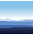Landscape of mountains in fog vector image vector image