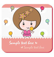 lollipop girl card vector image vector image
