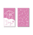love cards template hand drawn label or poster vector image