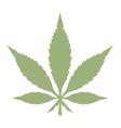 Marijuana leaf vector image