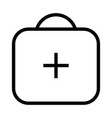 medical briefcase health icon with outline style vector image