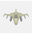 military aircraft icon cartoon style vector image vector image