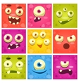 Monster Faces Set vector image vector image