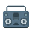 music tape recorder boombox icon on white vector image