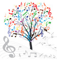 music tree vector design element vintage backgroun vector image vector image