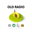 Old radio icon in different style vector image vector image