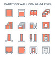 partition wall icon vector image