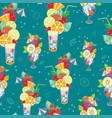 pattern of fantastic summer vector image