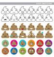 poop emoticons vector image