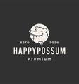 possum hipster vintage logo icon vector image vector image