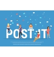 Post it concept of young people using vector image vector image
