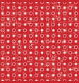retro seamless polka dot red background vector image vector image