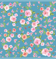 roses seamless pattern wallpaper vector image vector image