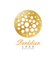 rounded logo design of dandelion plant abstract vector image vector image