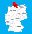 schleswig holstein state map germany province vector image