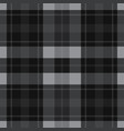 seamless gray black tartan - white stripes vector image vector image