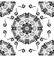Seamless Orient Black and White Background vector image