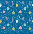 seamless pattern with christmas toys balls and vector image vector image