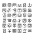 seo and web icons pack vector image vector image