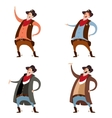 Set of cowboys vector image vector image