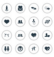 set of simple fellows icons vector image vector image