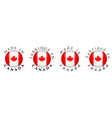 simple made in canada french translation 3d vector image vector image