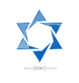 star of David on white background vector image