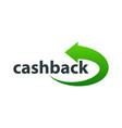 template logo for cashback service vector image