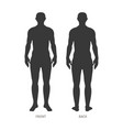 the human body silhouette isolated background vector image