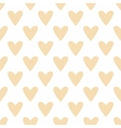 Tile pastel pattern hearts on white background vector image vector image