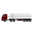 truck with trailer transporting liquid vector image