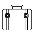 vintage suitcase on white background vector image