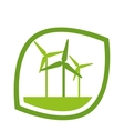 windmill energy ecology icon vector image vector image