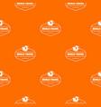 world travel pattern orange vector image vector image