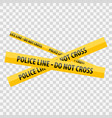 yellow police line do not cross vector image