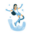 young brunette woman in a light blue superhero vector image