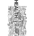 your health text word cloud concept vector image vector image