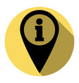 map pointer with information sign flat vector image