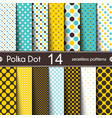 14 different round shape seamless patterns vector image