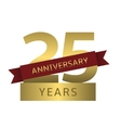 25 years anniversary vector image