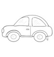a children coloring bookpage a cartoon car image vector image