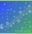 abstract background with colorful music notes on s vector image vector image