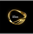 abstract golden organic shape vector image
