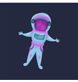 astronaut character spaceman flying in space vector image vector image