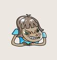 bad girl vector image