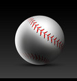 baseball ball realistic background vector image vector image